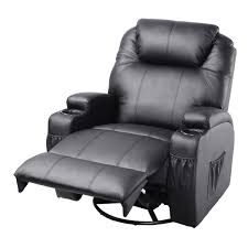 Recliner Massage Chairs Leather Massage Recliner Sofa Chair Deluxe Ergonomic Lounge Heated W