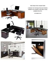 corner computer desk glass black glass corner computer desk l shaped workstations