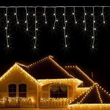 white icicle christmas lights christmas lights icicle amazon co uk