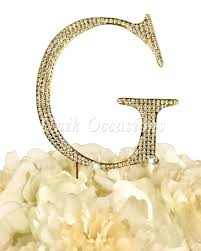 g cake topper gold unik occasions rhinestone letter g large cake topper