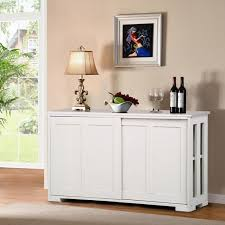 small kitchen cabinets walmart topeakmart antique white buffet cabinet kitchen table sliding door stackable sideboard storage cabinet