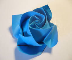 Blue Roses For Sale Origami Origami Rose In Bloom Steps With Pictures Origami Roses
