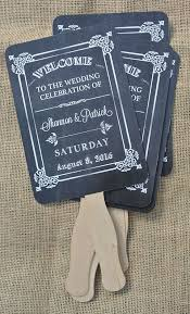 personalized wedding fans wedding fans wedding favors rustic wedding fans chalkboard