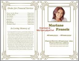template for funeral service order of service template free enwurf csat co