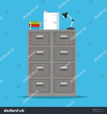 Metal Filing Cabinet Metal Filing Cabinet Storage Lapm Office Stock Vector 575075125