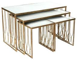 gold nesting coffee table gold nesting tables beautiful gold and iron modern nesting coffee