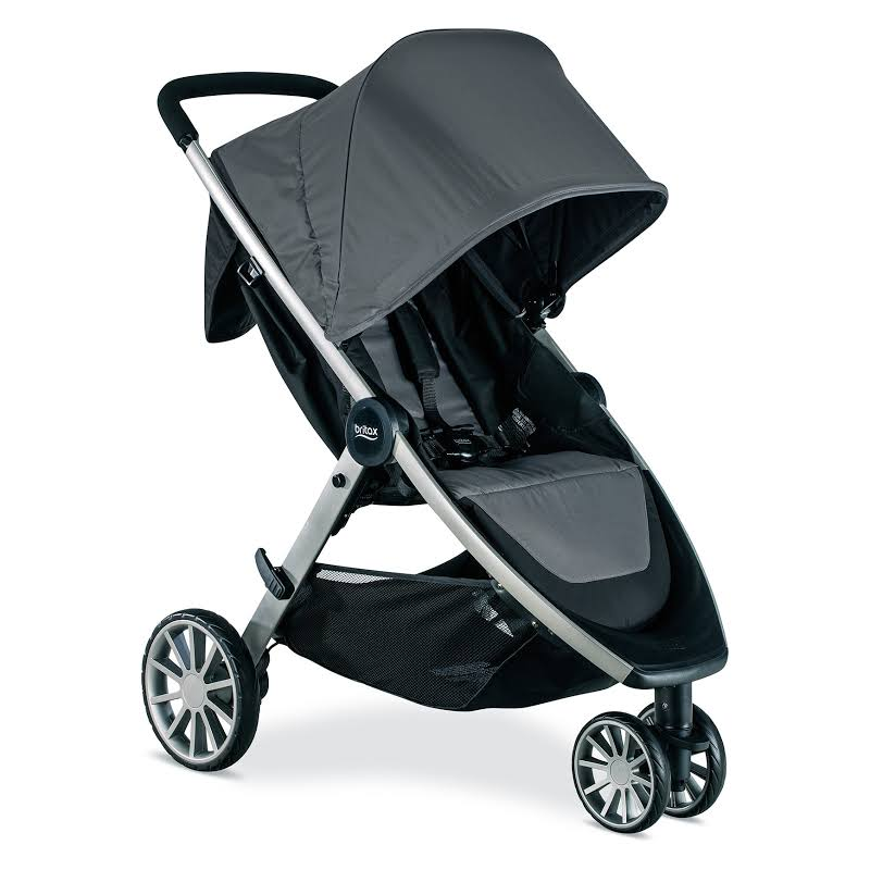 Britax B-lively Baby Kid Stroller With Large Basket And Car Seat Adapters, Gray