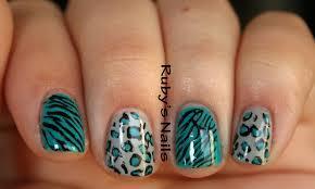 ruby u0027s nails leopard and zebra print nails