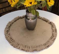 wedding centerpieces for round tables round burlap table centerpiece burlap table topper with