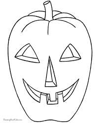pumpkin outline printable coloring