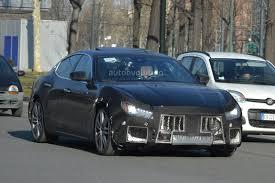 blue maserati ghibli spyshots 2018 maserati ghibli facelift gets new grille 450 hp v6