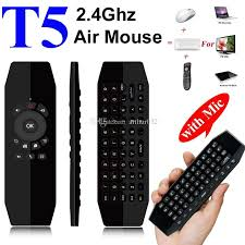 android keyboard with microphone t5 mic 2 4g wireless fly air mouse with microphone voice universal