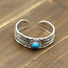 bracelet silver turquoise images Men 39 s sterling silver turquoise feather wide cuff bracelet jpg