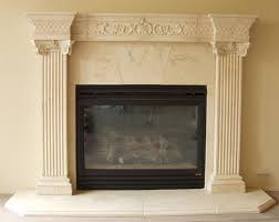 cast stone fireplace mantels pre cast surrounds fireplace