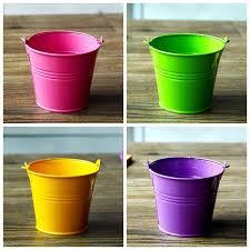 Colored Vases Wholesale Flower Vase Wholesale Metal Bucket Shelf Windowsill Home Knick