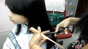 hairstyles for girl video straight blunt haircut for prathysha small girl haircut video