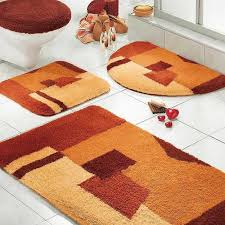 Designer Bathroom Rugs Set Mauve Bathmats Themed Anti Floors Quality With Funny Fun