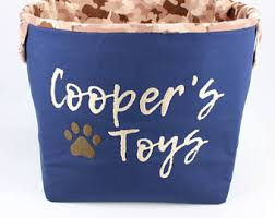 Design Your Own Dog Toy Boxes by Storage Basket Etsy
