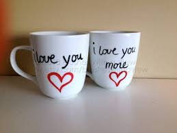 Personalized Mugs For Wedding I Love You Coffee Mugs Set Of Two I Love You And I Love You More