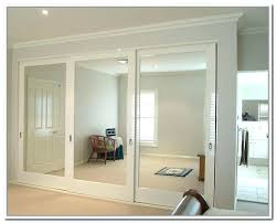Space Saving Closet Doors Sliding Doors For Closets Closet With Painted White Sliding Doors