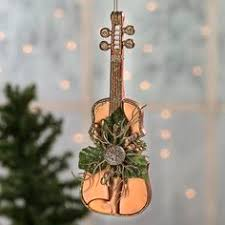 i am violin 2 tree ornament with violin and notes http