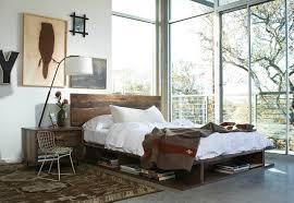 king size platform bed frame bedroom industrial with area rug bed