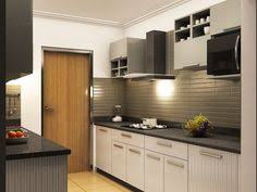 grey modular kitchen designs parallel shaped modular kitchen
