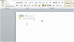 business productivity how to insert a logo in your letterhead in