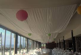 Wedding Reception Decorations Decorating The Ceiling With Fabric