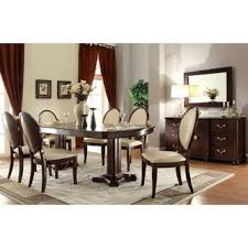 Acme Dining Room Furniture Acme United Formal Look Contemporary 7pcs Dining Set Cherry Finish