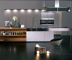 Dark Kitchen Designs Sleek Dark Kitchen Design With Black Flooring And Metallic