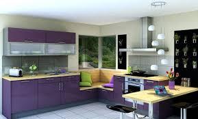 deco cuisine violet cuisine vitaminée glossy glam violet beige idée de décoration