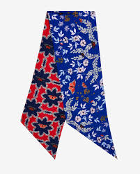 kyoto gardens skinny scarf mid blue scarves ted baker uk