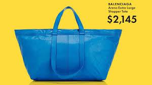 the 2 000 balenciaga ikea bag is actually awesome gq