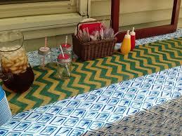 diy chevron burlap table runner my blissful space