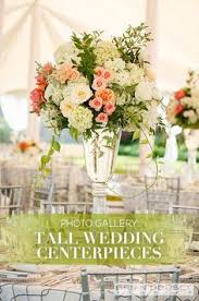 Long Vase Centerpieces by Tall Wedding Centerpieces Tall Pedestal Vase With White Flowers