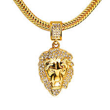 mens necklace lengths images Tidoo mens necklace 29 5 inch length golden chain lion head jpg