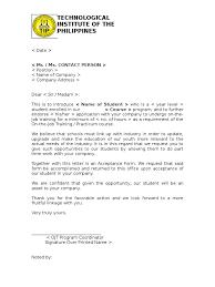 ojt resume objectives hotel management trainee cover letter ojt application sample ojt endorsement letter resume letter for ojt