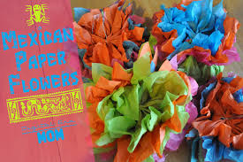 How To Make Mexican Paper Flowers - easy tissue paper canvas art mama plus one