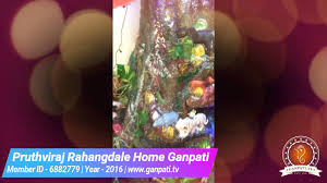 Home Ganpati Decoration Pruthviraj Rahangdale Home Ganpati Decoration Video U0026 Ideas Www