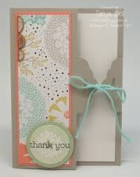 How To Make Punch Cards - stampin u0027 up scallop tag topper punch card closure with video on