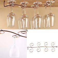 8 wine glass rack stemware under cabinet holder hanger shelf bar