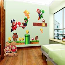Super Mario Home Decor Super Mario Bros Cartoon Wall Sticker Home Decor For Kids Room