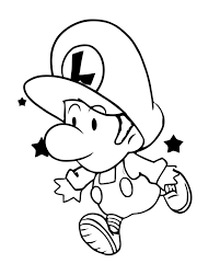 baby luigi coloring page cartoon coloring pages pinterest