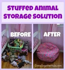 come together kids stuffed animal storage solution