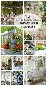 Tin Buckets For Centerpieces by 12 Ways To Decorate With Galvanized Buckets Creative Cain Cabin