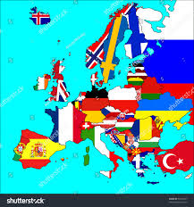 map of all the countries in europe map europe all countries borders flags stock illustration 51862657