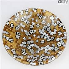 corporate gifts in murano glass made in italy plate
