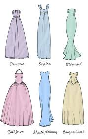 wedding dress shape guide wedding dress silhouette guide type of the dresses