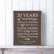 20 years anniversary gifts 20 year anniversary gift for parents 20th anniversary present